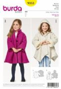 9353 Burda Pattern: Child's A-Line Coat